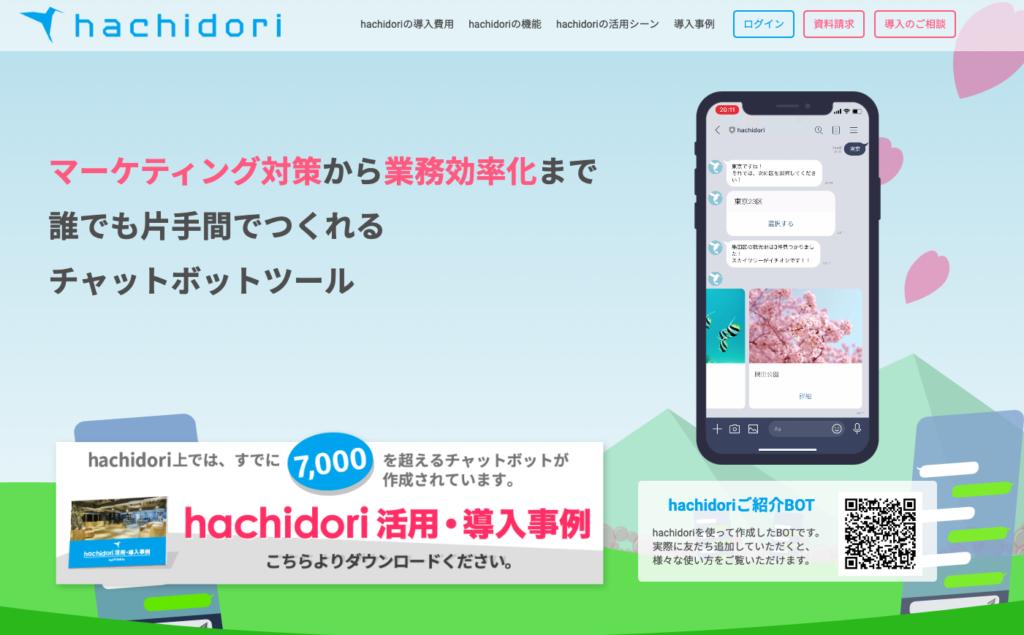 チャットボットツールhachidori
